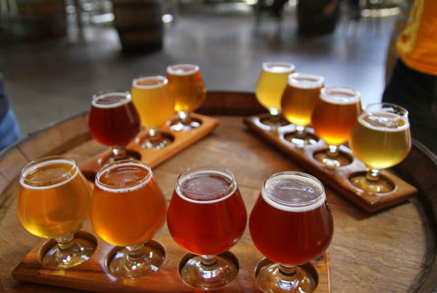 flights beer goblets