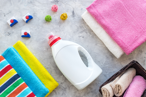 clean clothing and detergent